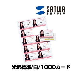 インクジェット まわりがきれいな名刺カード 光沢 A4 10面 100シート入