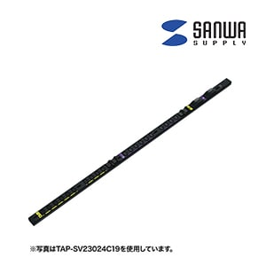 19インチサーバーラック用コンセント スリムサイズ 200V 20A IEC C19×2個口+IEC C13×18個口 3m