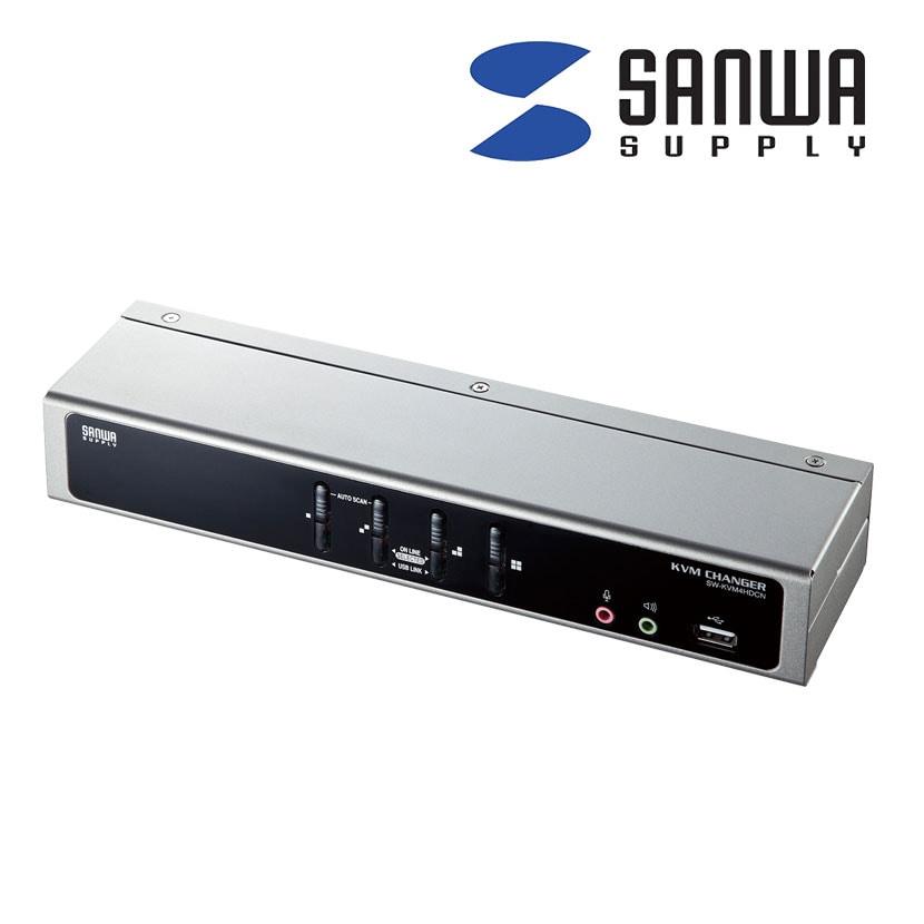 デュアルリンクDVI対応パソコン自動切替器 4:1