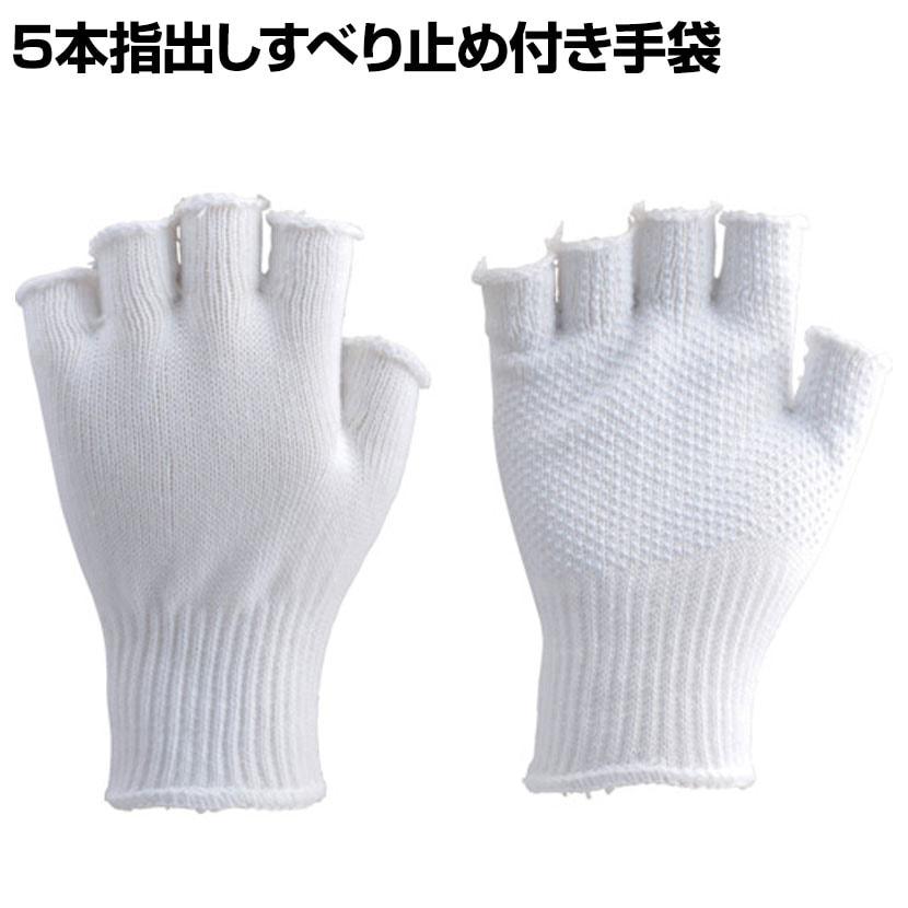 TRUSCO 5本指出しすべり止め付き手袋 TG-F5