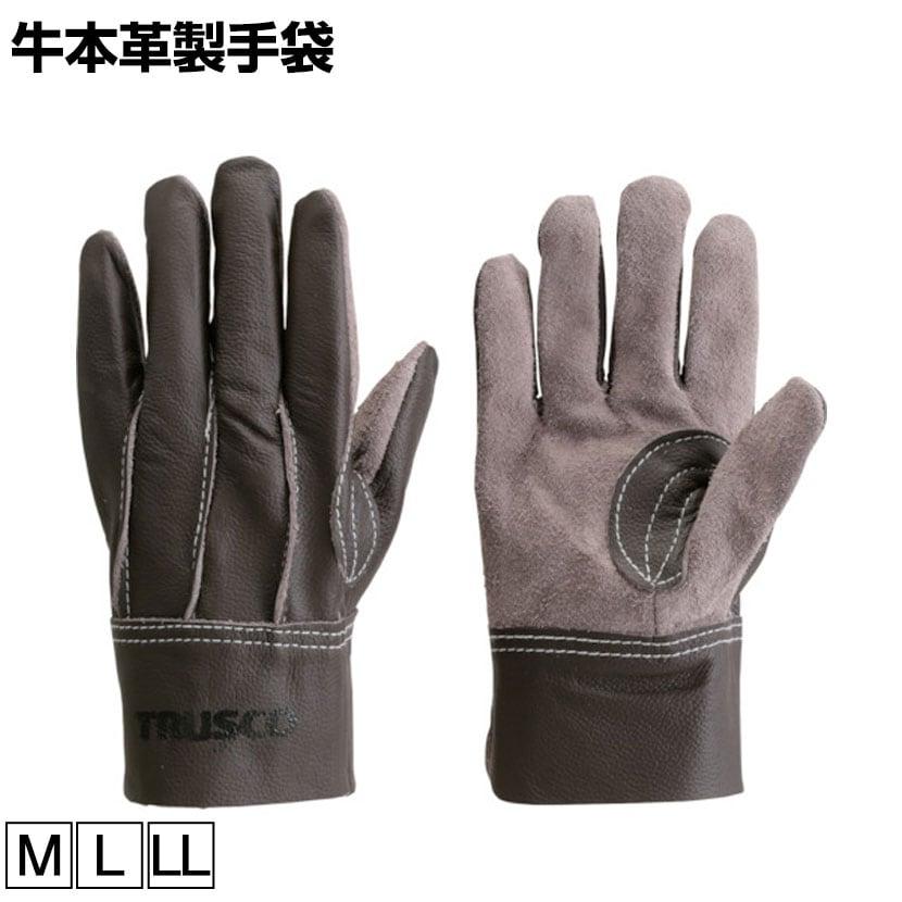 TRUSCO 牛本革製手袋 ブラウン TKBR