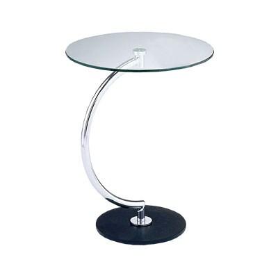 【8月下旬入荷予定】BRASS(ブラス) サイドテーブル クリアガラス 円形 幅460×奥行460×高さ555mm モダン ホーム 家具 リビング