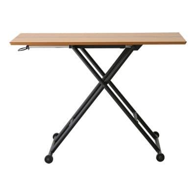 LOGICA(ロジカ) 昇降テーブル 木製 幅1000×奥行480×高さ110~700mm ナチュラル シンプル ホーム 家具 リビング ダイニング