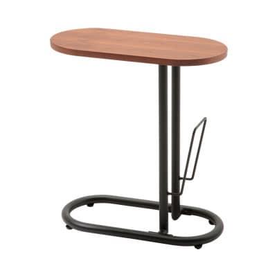 BEAK(ブーク) サイドテーブル 木製 楕円形 幅500×奥行250×高さ555mm モダン 楕円型 ホーム 家具 リビング リフレッシュルーム 休憩室