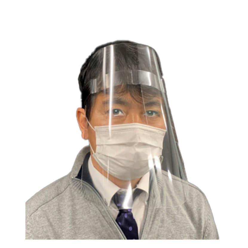 飛沫防止 簡易フェイスシールド 高透明度PETシート 普通サイズ 軽量25g サイズ調整可 100枚入り