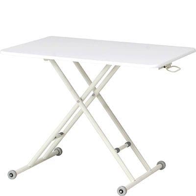 昇降式テーブル テーブル ホームオフィス 在宅勤務 折りたたみ式 高さ調整可 幅900mm×奥行600mm×高さ107~695mm