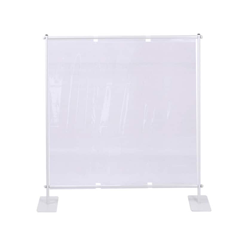 飛沫遮断パーテーション 卓上用 スチール製 透明ビニールシート スニーズガード 簡単組立 受付 窓口 受付 カウンター オフィス 幅948.2×奥行230×高さ1206.6mm