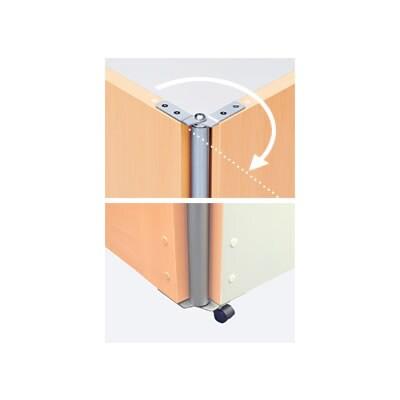 [オプション]Garage(ガラージ)/パネルGP 屏風連結ジョイント キャスター付屏風連結(0~195度) 高さ1500mm用/GA-GP-CFJ15