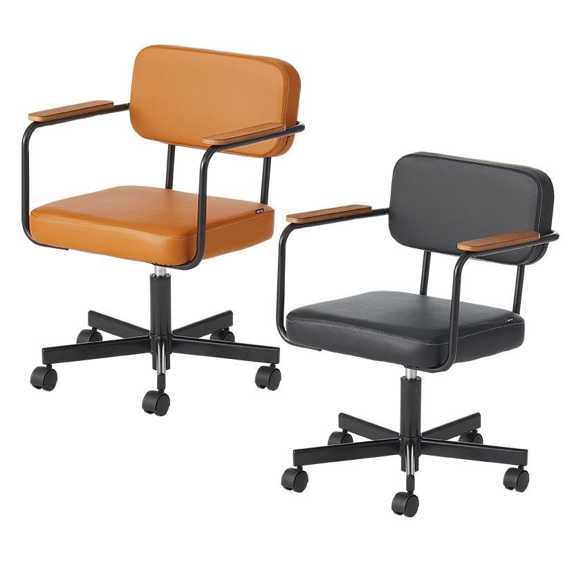 【ブラック:12月上旬入荷予定】メティオ ワークチェア 肘付き オフィスチェア 事務椅子 ミーティングチェア 幅565×奥行590×高さ721~828mm