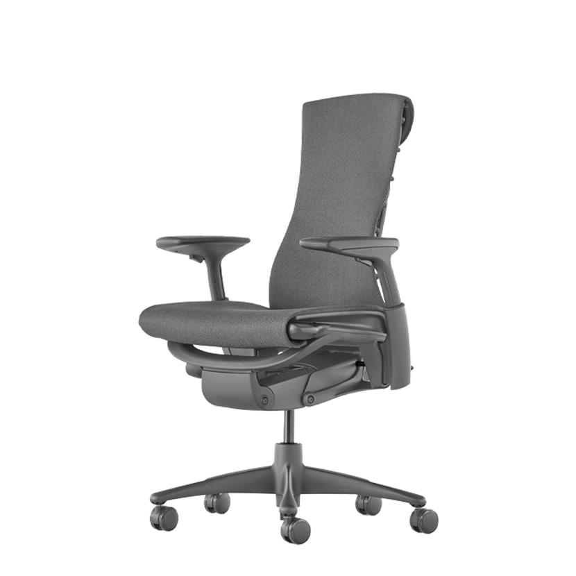 【次回入荷未定】エンボディチェア Embody Chairs グラファイトフレーム カーペットキャスター メドレー シンダー HermanMiller ハーマンミラー   CN122AWAA G1G1BB1HA04