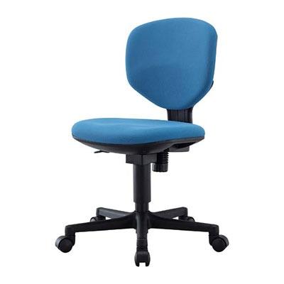 【PVグレー:1月下旬入荷予定】Bit-EX|ビットエックス オフィスチェア コンパクト 事務椅子 肘無 【グリーン・ブルー・グレー・PVグレー】/BIT-EX43L0