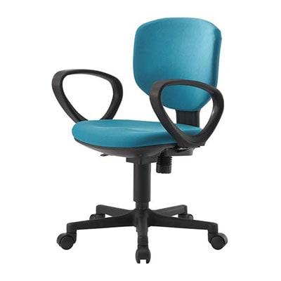 Bit-EX|ビットエックス オフィスチェア コンパクト 事務椅子 肘付き 【グリーン・ブルー・グレー・PVグレー】/BIT-EX43L1