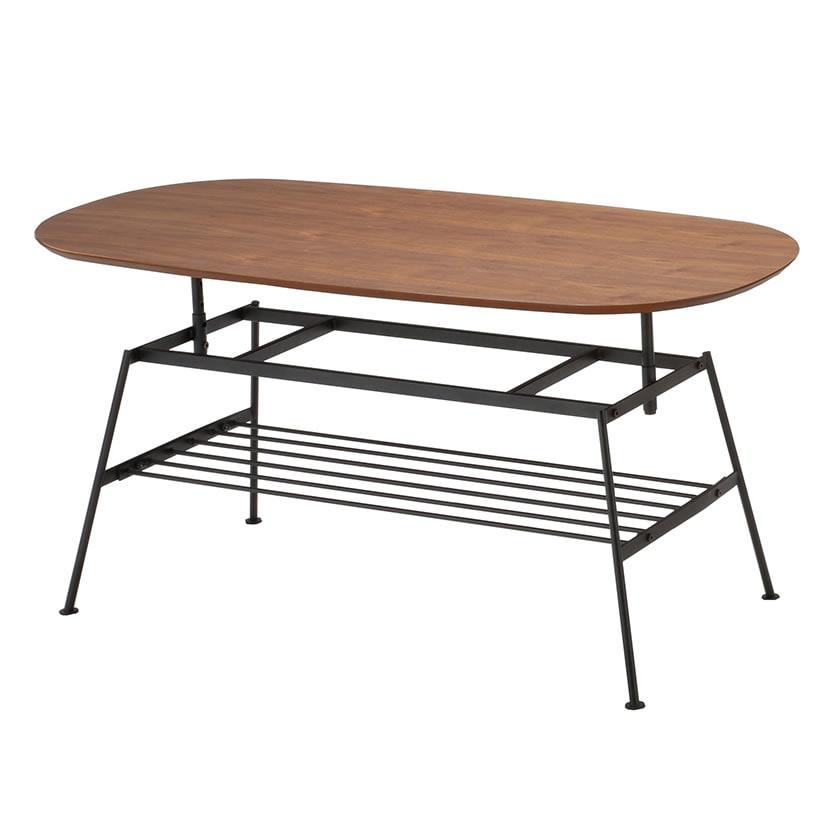 anthem(アンセム)アジャスタブルテーブル 高さ調節可能(5段階)幅1100×奥行500×高さ400~520mm ナチュラル 木目 天然木 ホーム リビング ダイニング