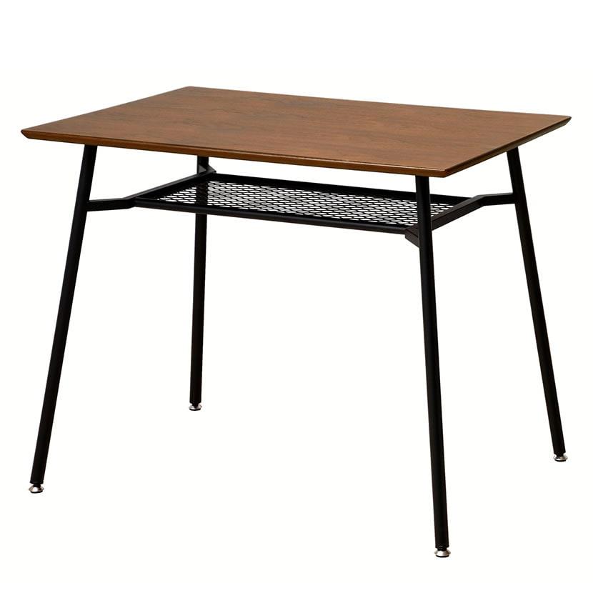 anthem(アンセム)ダイニングテーブルS 2人掛け用 幅900×奥行600×高さ720mm 棚板付 ナチュラル 木目 天然木 ホーム リビング ダイニング