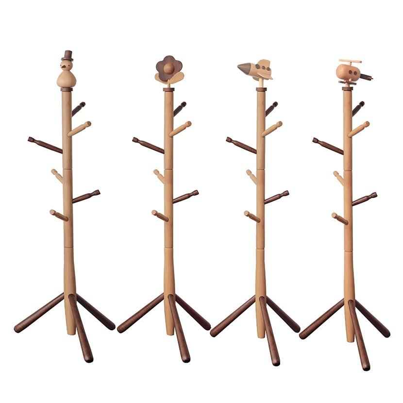 木の素材を生かした キッズポールハンガー