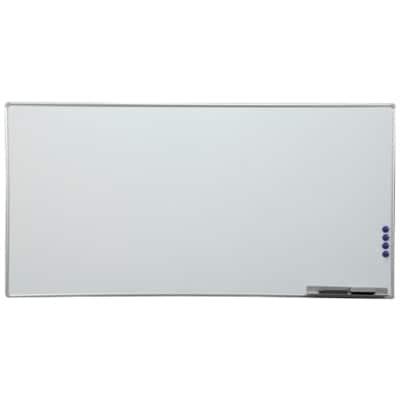 アルミホワイトボード/幅1800×高さ900mm・壁掛無地 /AWB-918 537742