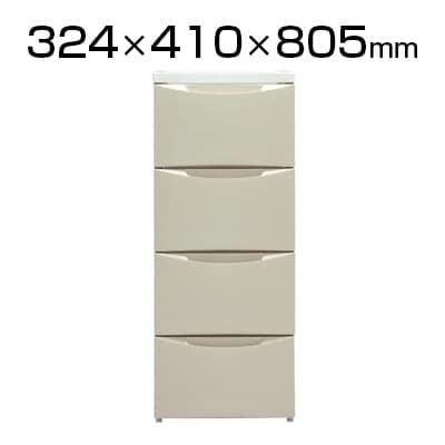 アイリスオーヤマ スリムチェスト 4段 COD-324 幅324×奥行410×高さ805mm