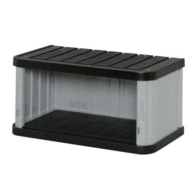 物置 ミニロッカー ML-450V ブラック/グレー 幅900 × 奥行520 × 高さ450mm