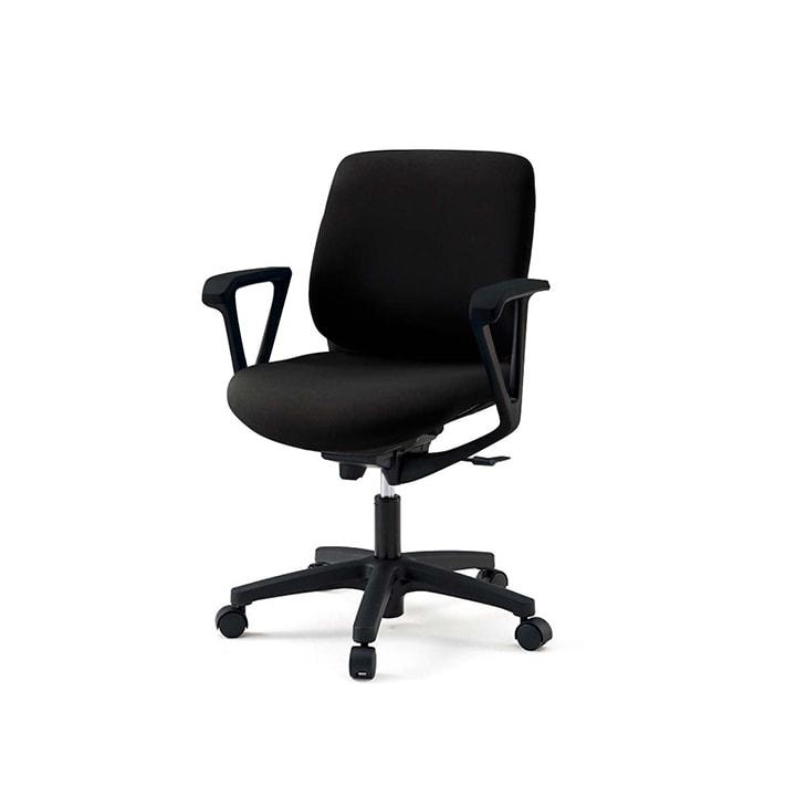 【ブラック×ネイビーブルー:次回入荷未定】ITOKI(イトーキ) オフィスチェア 事務椅子 トルテRチェア ローバック ループ肘 ハンガーなし  | KZ-246GB