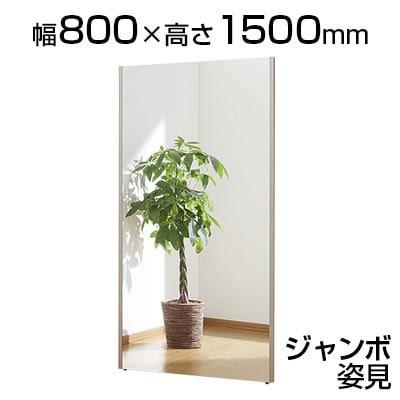 割れない鏡 リフェクスミラー ジャンボ姿見 幅800×厚さ21.5×高さ1500mm 軽い 安全 学校 病院 施設 教室