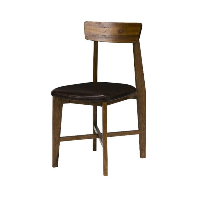 【11月下旬入荷予定】journal standard Furniture シノン レザーシート チェア 幅410×奥行500×高さ830mm CHINON CHAIR LEATHER BROWN