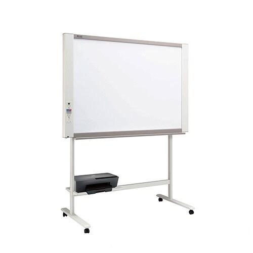 プラス ネットワークボード 電子黒板 コピーボード ホワイトボード カラーインクジェットプリンタセット ボード4面/N-214SI