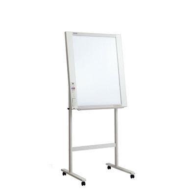 プラス 電子黒板 コピーボード ホワイトボード 縦型 ネットワークフリップチャート スタンドセット ボード2面/NF-20-ST