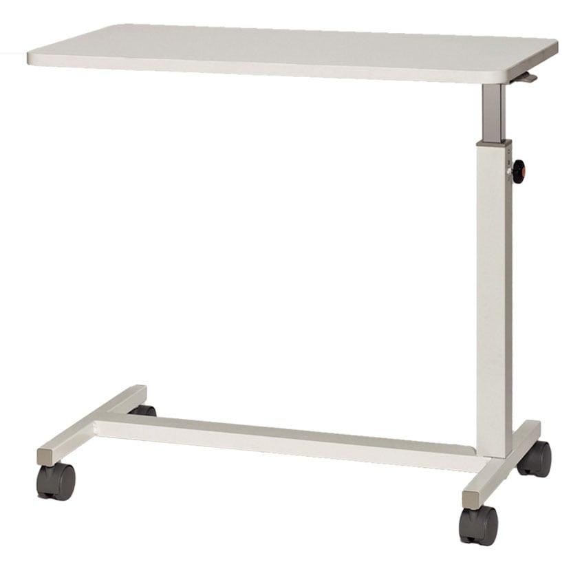 サイドテーブル 高さ無段階調節 本体:スチール製 キャスター仕様 幅600×奥行400×高さ610〜930mm