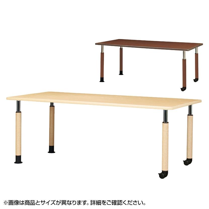 昇降式テーブル 医療・福祉施設向け 抗菌天板採用 簡単高さ調節 2輪キャスター脚 幅1600×奥行900×高さ600〜800mm