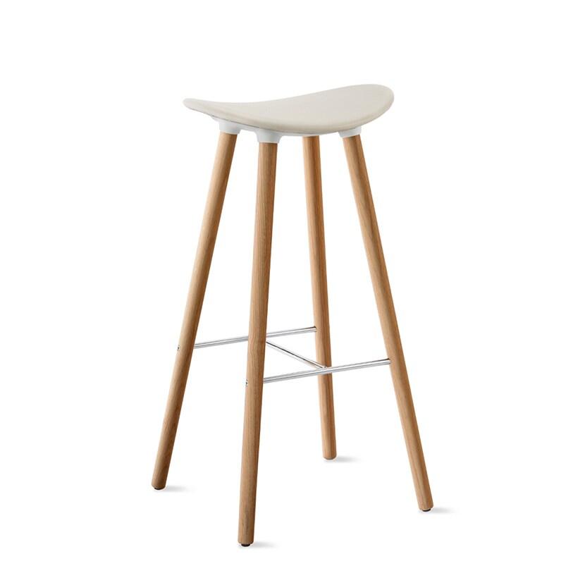 COH353W31 0003 | コアレス Coalesse Enea Cafe Wood Stools 樹脂座面 ハイチェア Steelcase(スチールケース)