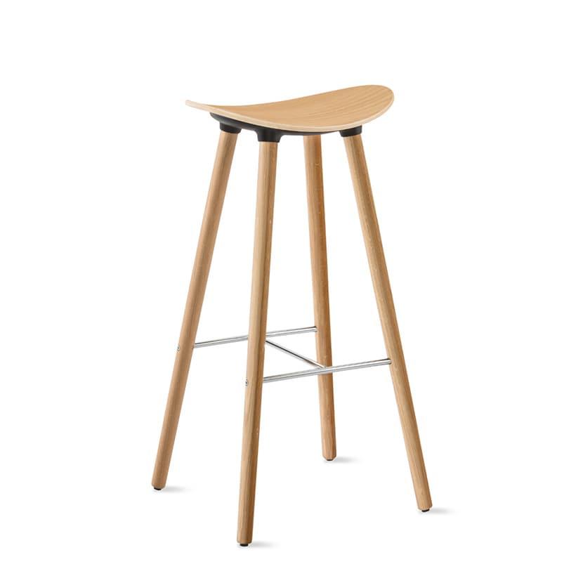 COH350W31 | V3AKコアレス Coalesse Enea Cafe Wood Stools 木製座面 ハイチェア Steelcase(スチールケース)