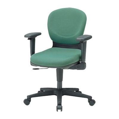 国産 オフィスチェア可動肘付 事務椅子 リクライニングチェア マット交換可 (ブルー以外受注生産) 【グリーン・ブラウン・ブルー・ブルーグリーン】
