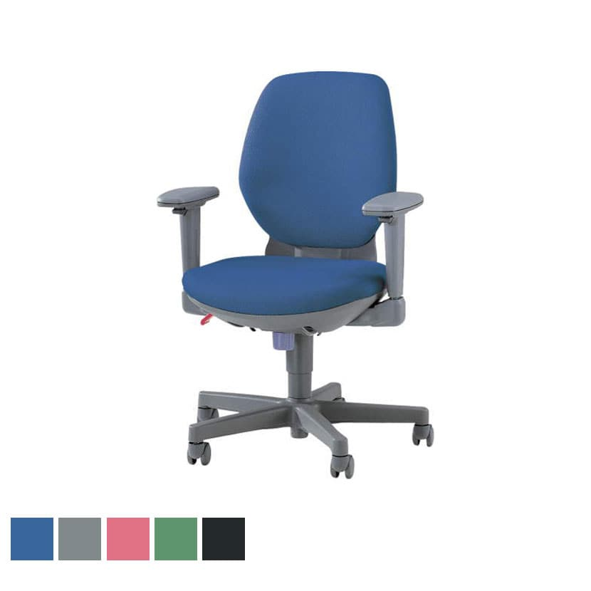 オフィスチェア デスクチェア 事務椅子 アエバ AEBA21 1st 布張り ハイバック 可動肘 背座交換可能 背高調節 LI-No2122F