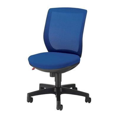 オフィスチェア 事務椅子 メッシュ アミノ ブラックシェル アームレス 日本製【グリーン・ブルー・レッド・グレー・ブラック】