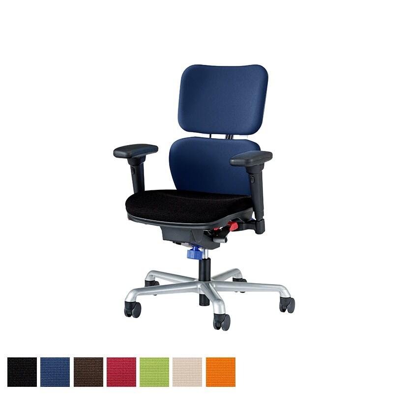 オフィスチェア パソコンチェア 事務椅子 アイビートル フレキシブルアームタイプ No.2412F