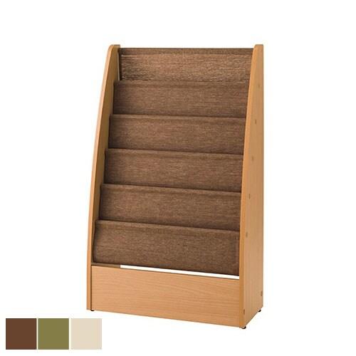 マガジンラック マガジンスタンド 5段 木製 ディスプレイスタンド 雑誌 幅550×奥行250×高さ910mm