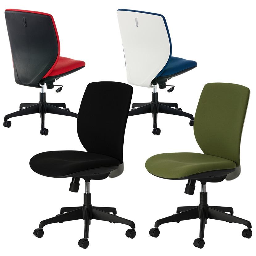 オフィスチェア シンクロロッキング 背面フック付き ルナーレチェア 幅630×奥行615×高さ905~995mm