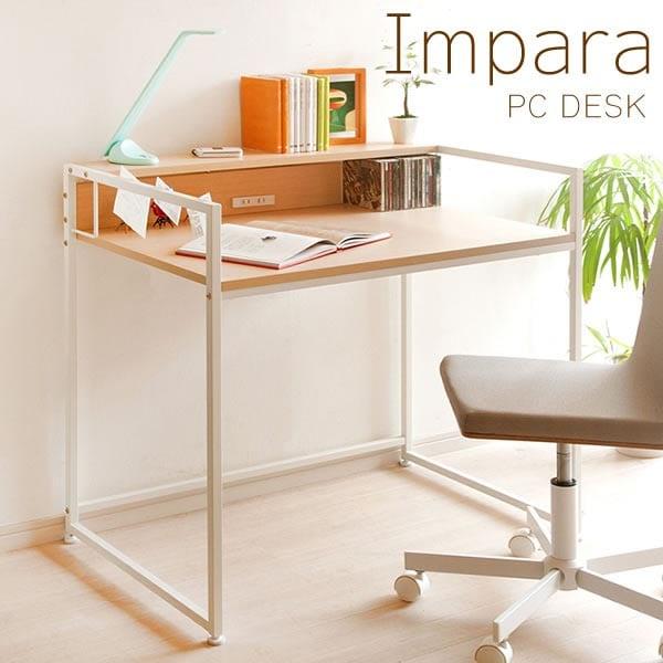 PCデスク Impara シンプルなスクエアデザイン 省スペースデスク 幅910×奥行610×高さ850mm