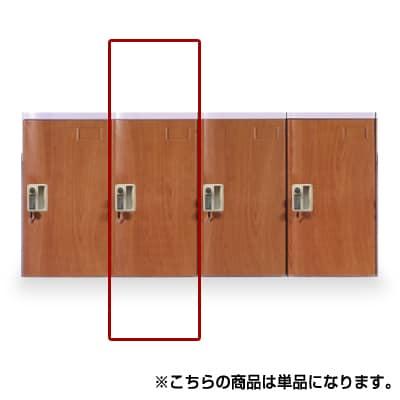 [増設ユニット/追加用]MY-PB-CLJWD / プラスチックロッカー(木目タイプ)〔シリンダー錠〕Lサイズ