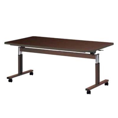 天板跳ね上げ式テーブル/ラチェット昇降式/ソフトエッジ巻/幅2100×奥行900mm/NI-FIT-2190S