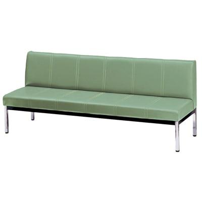 ロビーチェア ベンチ 長椅子 待合ソファ  幅1800×奥行570×高さ725mm 背付き (ニシキ)