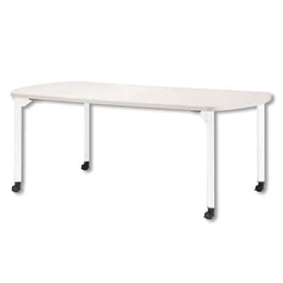 ミーティングテーブルMDL 会議テーブル キャスタータイプ ボート型 指紋レス(一部カラー) 幅1500×奥行750×高さ720mm MDL-1575BC