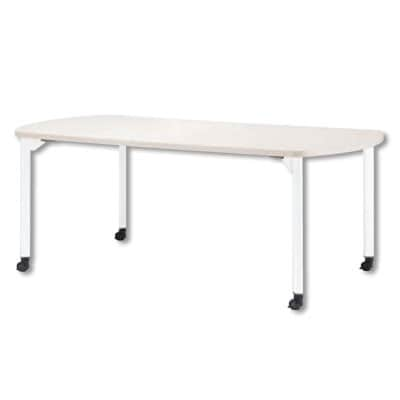 ミーティングテーブルMDL 会議テーブル キャスタータイプ ボート型 指紋レス(一部カラー) 幅1800×奥行750×高さ720mm MDL-1875BC