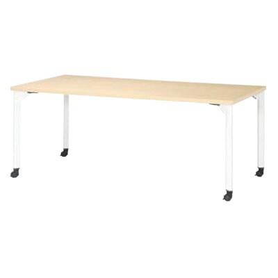 ミーティングテーブルMDL 会議テーブル キャスタータイプ 角型 指紋レス(一部カラー) 幅1800×奥行900×高さ720mm MDL-1890KC