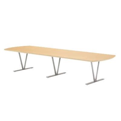 高級会議テーブル エグゼクティブテーブル 舟底テーパーエッジ 指紋レス天板  幅3200×奥行1200×高さ700mm NDS-3212