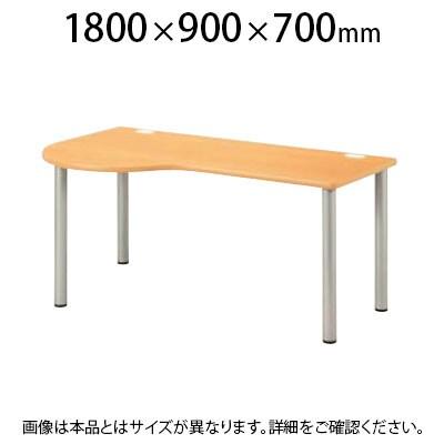 ナーステーブル 左ラウンド 幅1800×奥行900×高さ700mm NSD-1890L