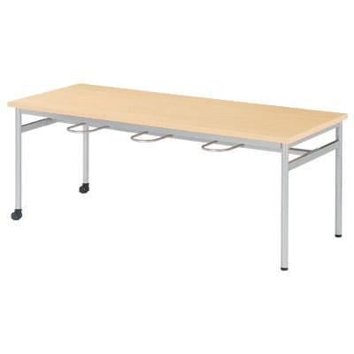 食堂テーブル キャスター付き イス掛け 6人用 幅1800×奥行750×高さ700mm (ニシキ)