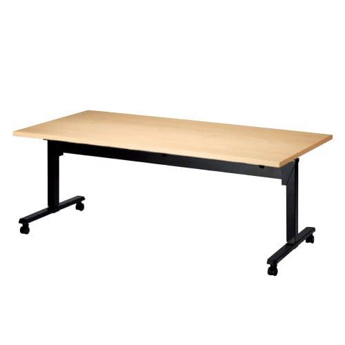 昇降テーブル 天板跳ね上げ式テーブル ラチェット式高さ調整 幅1800×奥行750×高さ700-1000mm SWT-1875