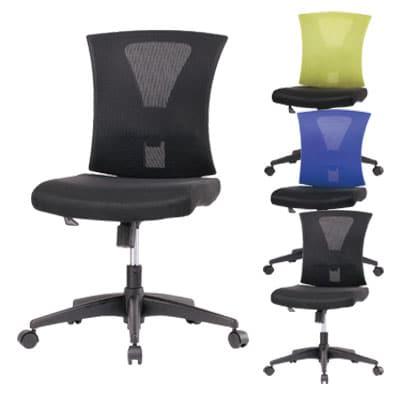 事務椅子 コンパクト デスクチェア オフィスチェア 肘なし コンパクト設計 幅480×奥行540×高さ900~990mm TN-807