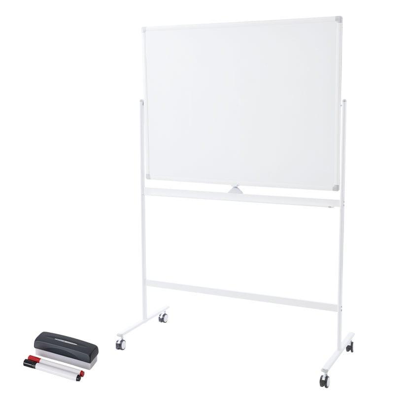 ホワイトボード 脚付き 両面 1200×900mm マーカーセット付き マグネット対応 OC-WB1290R 白板